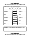 Math Ladder (editable)