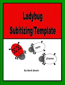 ladybugs math subitizing ladybug template 30 pages freebie