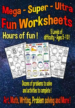 Math - Language - Art - Back to School - Mega Fun Worksheets Download