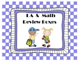 Math & Language Arts Review Boxes {Editable}