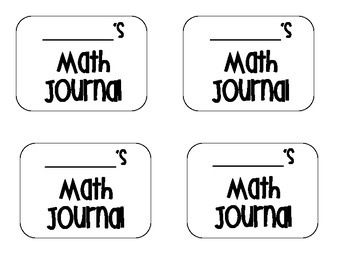 Math, Language Arts and Science Journal Label