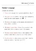 Math Language - Natural Numbers Worksheet for 9 - 16 year olds