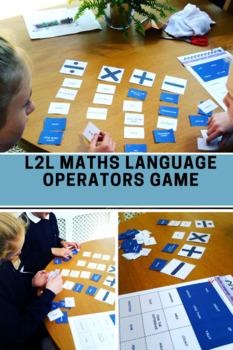 Math Language - Number Operators Language Matching GAME for 9-16 year olds