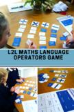 Math Language - Number Operators Language Matching GAME fo