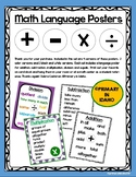 Math Language Posters