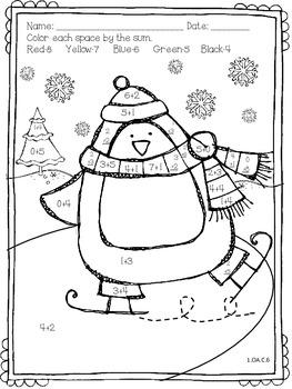 Math & Language Winter Skill Pack~Supports CC!