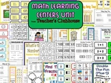 Math Learning Centers Unit from Teacher's Clubhouse