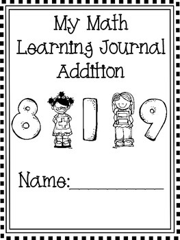 Math Journal-Intro to Adding-Includes Practice with Multiple Strategies