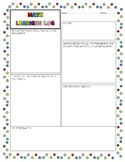 Math Learning Log - graphic organizer