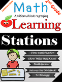 Math Learning Station Addition without Regrouping