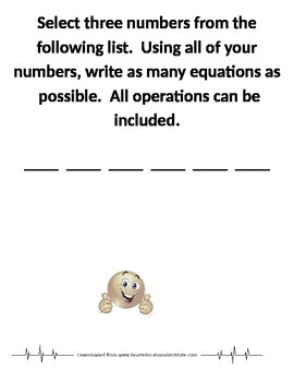 Math Learning Stations