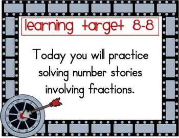Math Learning Target Posters Bundle-EDM Grade 3-Entire Year