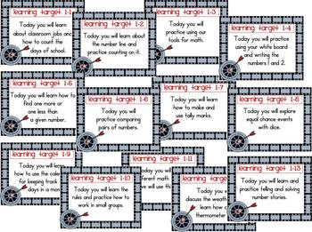Math Learning Target Posters for CCSS - EDM Grade 1, Unit 1 Freebie