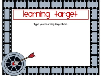 Math Learning Target Posters for CCSS - Editable Version