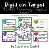 """Learning Targets: 1st Grade Math """"I Can"""" Statements"""