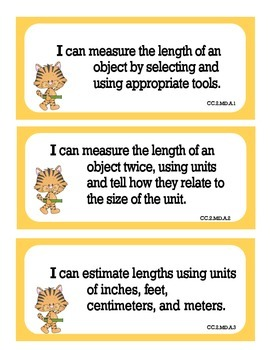 Math Learning Targets for 2nd Grade Common Core Standards