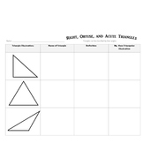 Math : Learning about Right, Obtuse and Acute Triangles