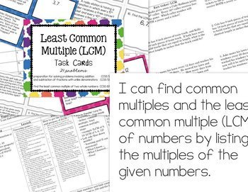 Math - Least Common Multiple (LCM) lesson