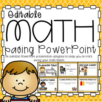 Math Lesson Pacing PowerPoint Presentation
