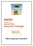 Math Lesson Plan:  Area of a Triangle