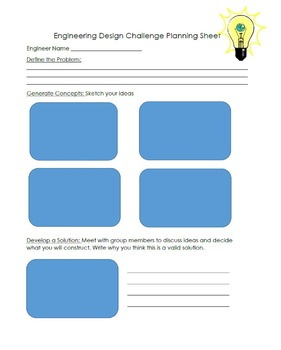 Engineering Design Challenge Planning Sheet