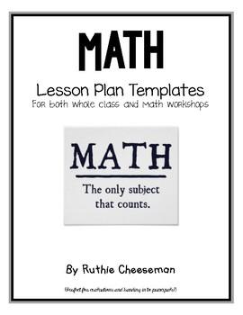 Math Lesson Plan Templates