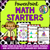 Math Lesson Starters PowerPoint (Math Games, Math Puzzles,