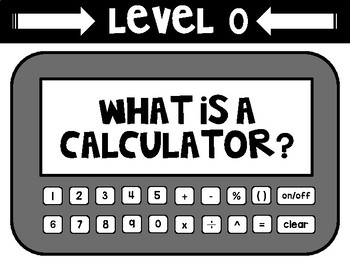 Math Levels of Understanding Poster Set and Banner - Calculator Theme