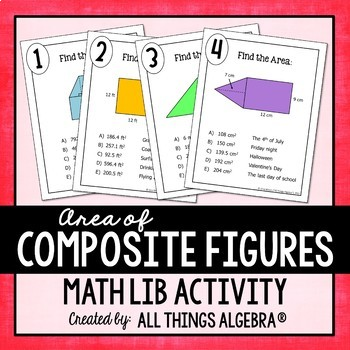 Area of Composite Figures Math Lib