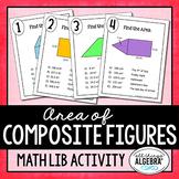 Area of Composite Figures Math Lib