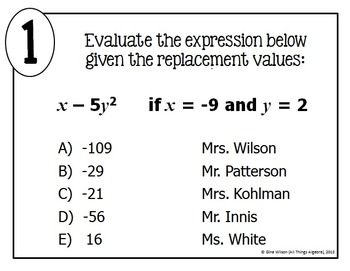 Evaluating Expressions Math Lib