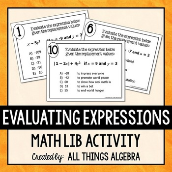 Evaluating Expressions Math Lib