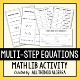 Multi-Step Equations Math Lib