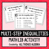 Multi-Step Inequalities Math Lib