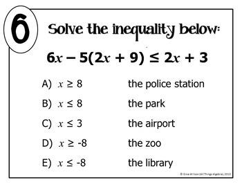 Multi-Step Inequalities Math Lib