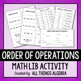 Order of Operations Math Lib