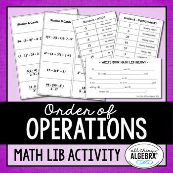Order of Operations Math Lib