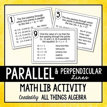 Parallel and Perpendicular Lines Math Lib