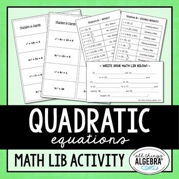 Quadratic Equations Math Lib
