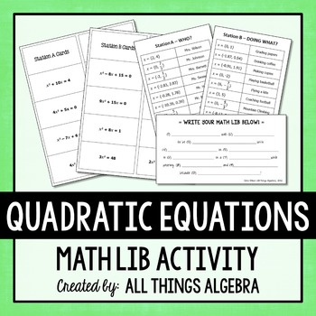 Quadratic Equations Math Lib