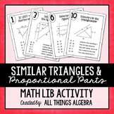Similar Triangles and Proportional Parts Math Lib - DISTANCE LEARNING