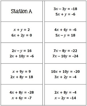 Systems of Equations Math Lib