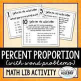 Percent Proportion Math Lib