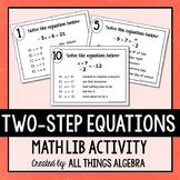 Two-Step Equations Math Lib