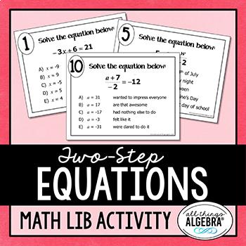 Two-Step Equations Math Lib