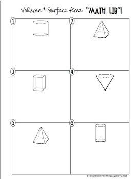 Volume and Surface Area Math Lib