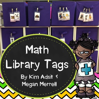 Math Library Labels - FREEBEE