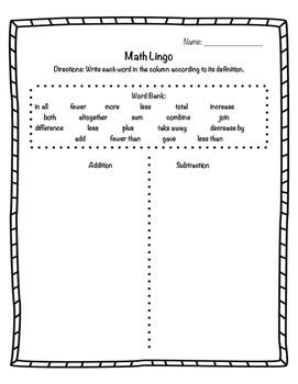 Math Lingo