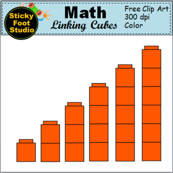 Math Linking Cubes Clip Art By Sticky Foot Studio Tpt