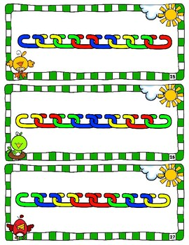 Math Links Cards and Teddy Brear Counter Cards - Pattern Cards